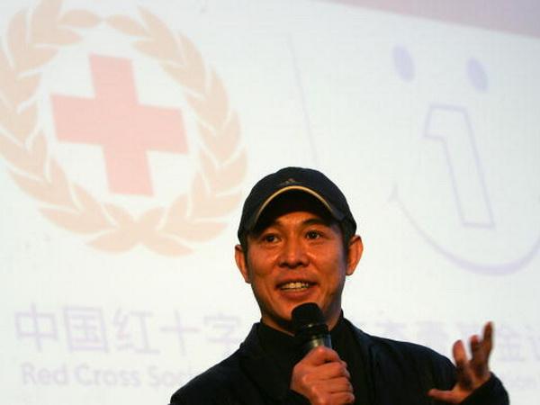 Джет Ли – посол доброй воли общества «Красный крест». Фото: China Photos/Getty Images