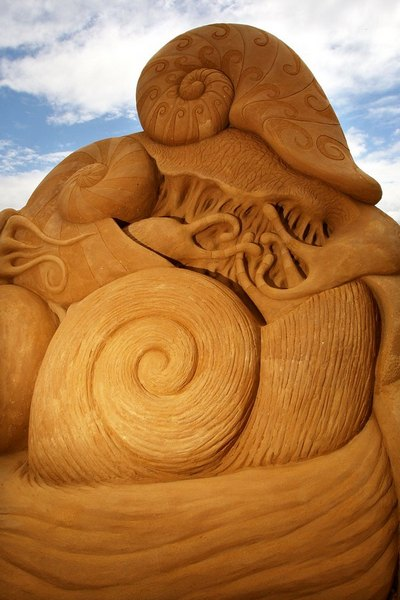 Выставка песочной скульптуры открылась в Мельбурне. Фото: Graham Denholm/Getty Images