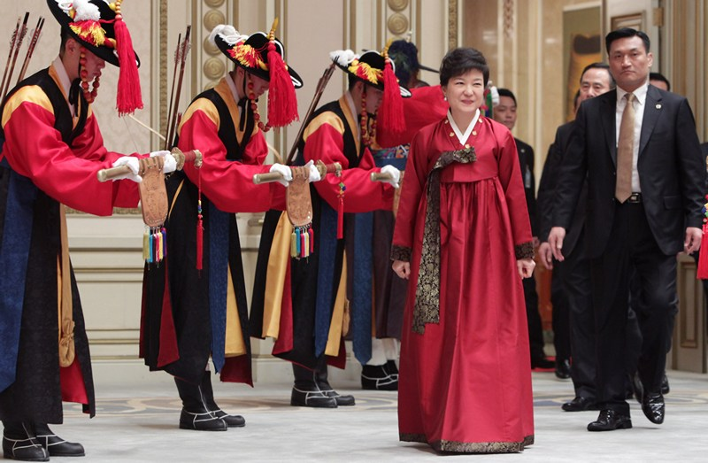 Сеул, Південна Корея, 25 лютого. Пак Ких Хе — перша жінка-президент країни. Фото: Chung Sung-Jun/Getty Images