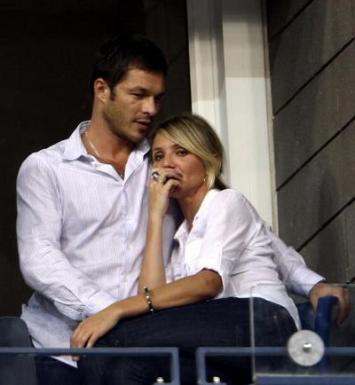 Кэмерон Диаз с бывшим другом моделью Полом Скалфором. Фото: Chris McGrath/Getty Images