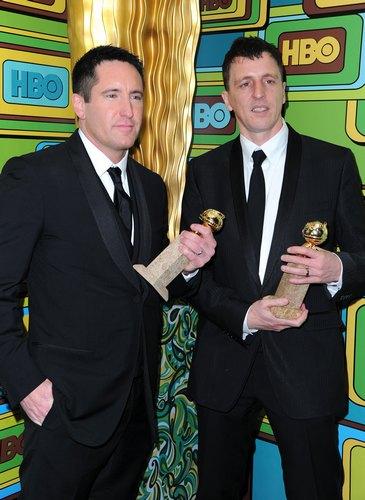 Золотой глобус — победители 2011. Трент Резнор и Аттикус Росс. Фото: Alberto E. Rodriguez/Getty Images