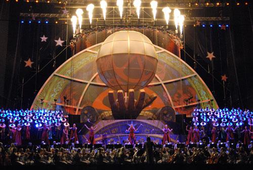 Шоу под названием «Общение ради будующего» прошло на Певческом поле в Киеве. Фото: Владимир Бородин/Великая Эпоха