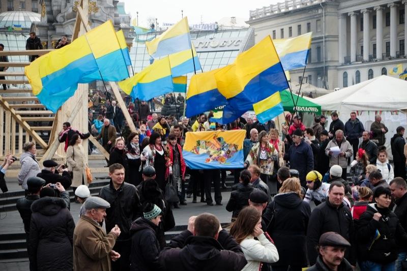 Митинг в поддержку целостности Украины прошёл на Майдане. Фото: Велика Епоха
