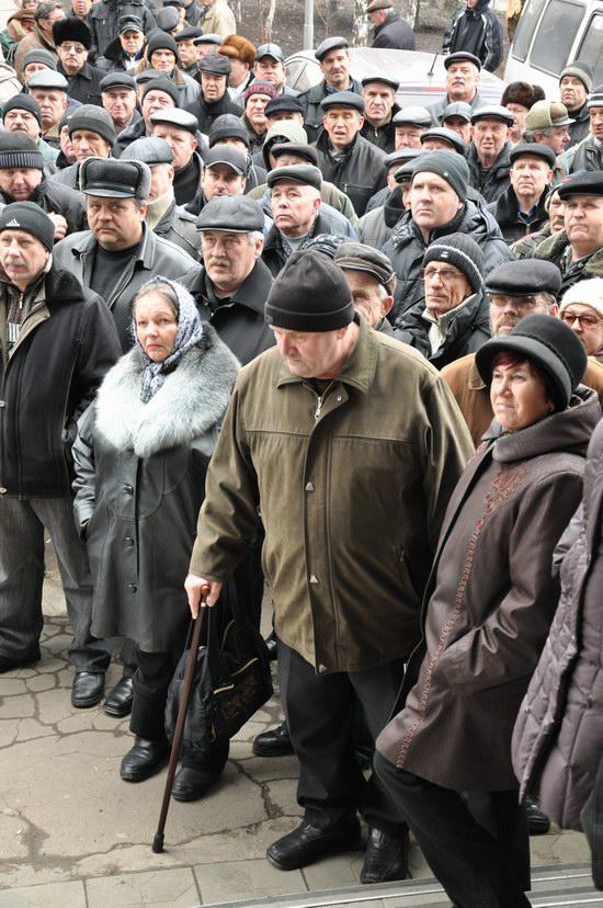 Донецкие чернобыльцы снова вышли на протест. Фото: ostro.org