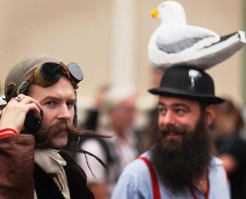 Участник конкурса бородачей. Фото: Daniel Berehulak/Getty Images