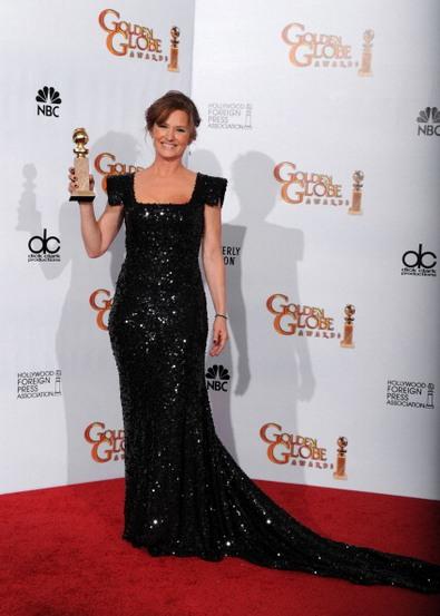 Золотой глобус — победители 2011. Мелисса Лео. Фото: Kevin Winter/Getty Images