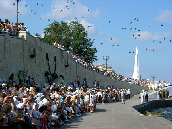 Зрители на военно-спортивном празднике. Фото: Алла Лавриненко/The Epoch Times Украина