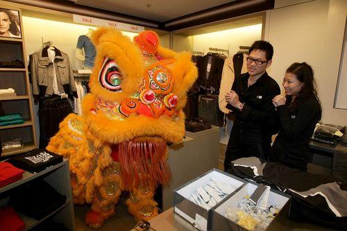 Лев счастья в одной из компаний г. Тайбэй (Тайвань). 07.02.2008г. Фото: Центральное агентство новостей