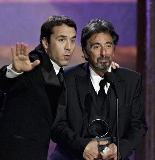 Актёры Джереми Пивен и Аль Пачино. Фото: Frazer Harrison/Getty Images