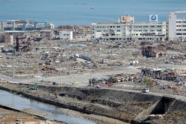 Разрушенные здания в г. Минамисанрику, префектура Мияги. Фото: Kiyoshi Ota/Getty Images