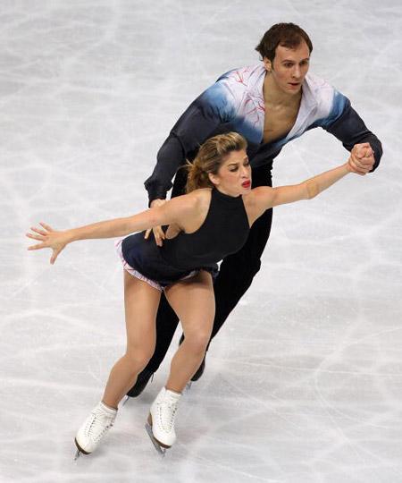 Американська пара Benjamin Okolski і Brooke Castile на чемпіонаті світу з фігурного катання. Фото: TORU YAMANAKA/AFP/Getty Images