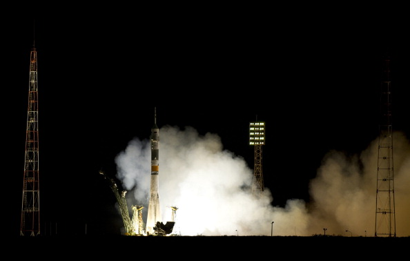 Старт ракеты «Союз-ФГ» с кораблем «Союз ТМА-02М». Фото: VYACHESLAV OSELEDKO/AFP/Getty Images