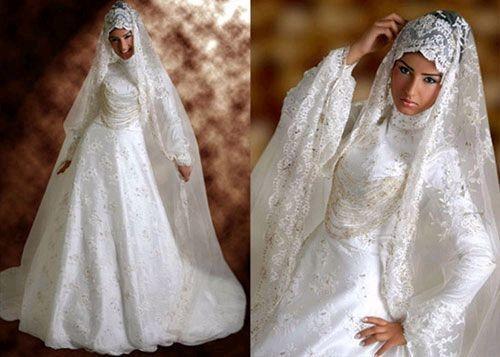 Свадебное платье арабских невест учитывает нравы и обычаи мусульманского мира. Фото с secretchina.com