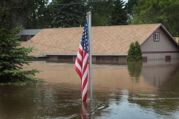 Затопленный Берлингтон. Северная Дакота, США. Фото: Scott Olson/Getty Images