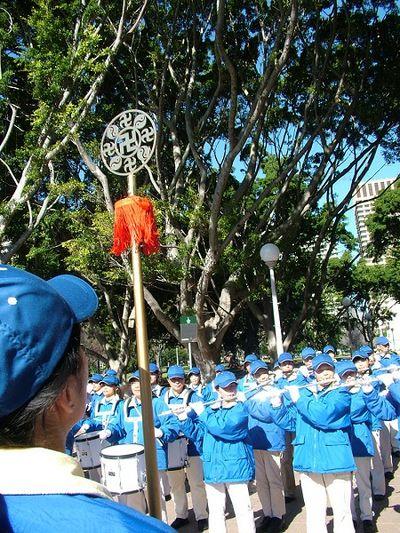 Во главе шествия шла колонна Небесного оркестра. 27 июля. Сидней (Австралия). Фото: Ло Я/The Epoch Times