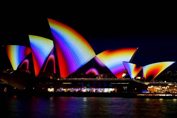 Музыкальный световой фестиваль в Сиднее. Фото: Mark Nolan/Getty Images