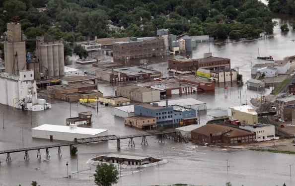 Затопленный Майнот. Северная Дакота, США. Фото: Scott Olson/Getty Images