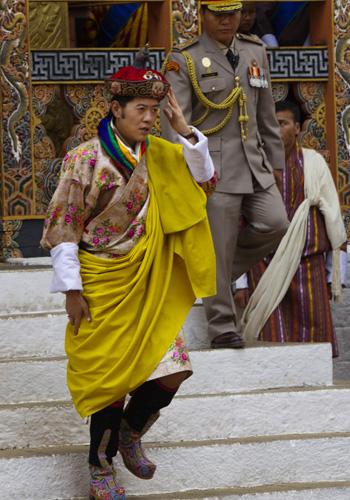 Празднование королевской свадьбы в Бутане. Фото: Paula Bronstein/Getty Images