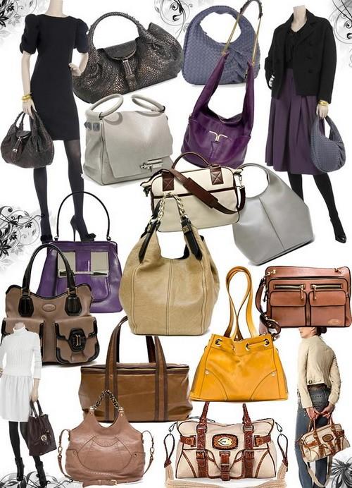 Модные сумки осень-зима 2008-2009- кожанная