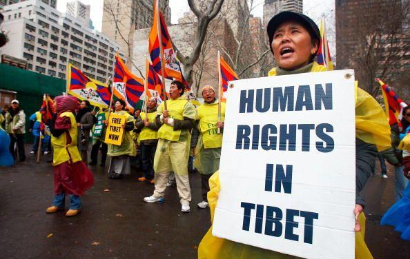 Нью-Йорк (США). Мероприятия, посвящённые Дню прав человека. 10 декабря. 2008 г. Фото: GETTY IMAGES