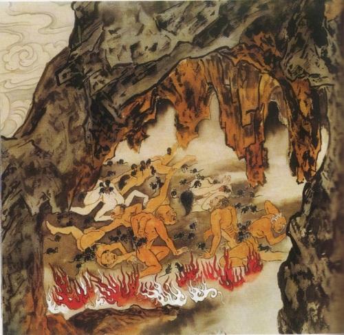 Шестой уровень ада, им управляет Бянь Чен Ван. Это место, где у грешников мыши выгрызают почки. Те, кто гонялся за чувственными наслаждениями, предавался распутствам и разврату, занимался кровосмешением, попадают сюда. Фото: Цзян Ицзы