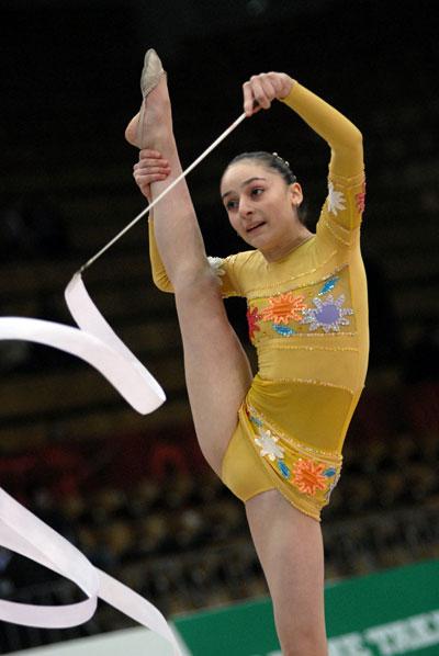 Этап Кубка мира по художественной гимнастике в Киеве 21 марта 2008 года. Фото: Владимир Бородин/The Epoch Times