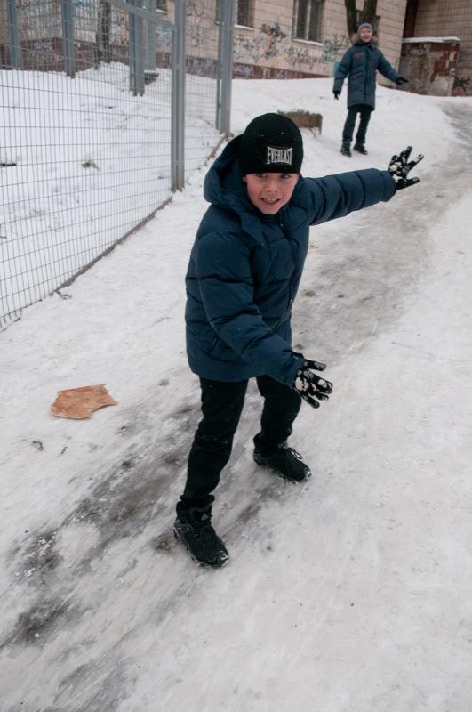 Долгожданный снег выпал в Киеве во второй половине зимы. Фото: Владимир Бородин/The Epoch Times Украина