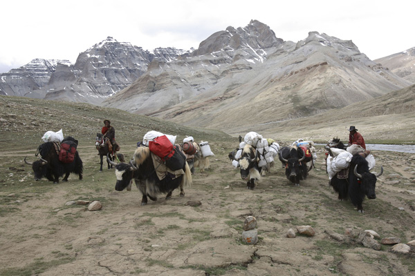 Сотні прочан щорічно здійснюють обхід навколо містичної гори Кайлас. Фото: China Photos / Getty Images