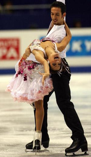 Американські фігуристи Tanith Belbin і Benjamin Agost на чемпіонаті в Токіо. Фото: TOSHIFUMI KITAMURA/AFP/Getty Images