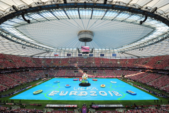 Відкриття Євро-2012 на Національному стадіоні у Варшаві 8 червня 2012 року. Фото: Shaun Botterill/Getty Images