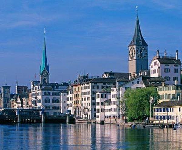 Второе место: Цюрих, Швейцария. Фото: Getty Images