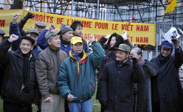 Брюссель (Бельгия). Мероприятия, посвящённые Дню прав человека. 10 декабря. 2008 г. Фото: GETTY IMAGES