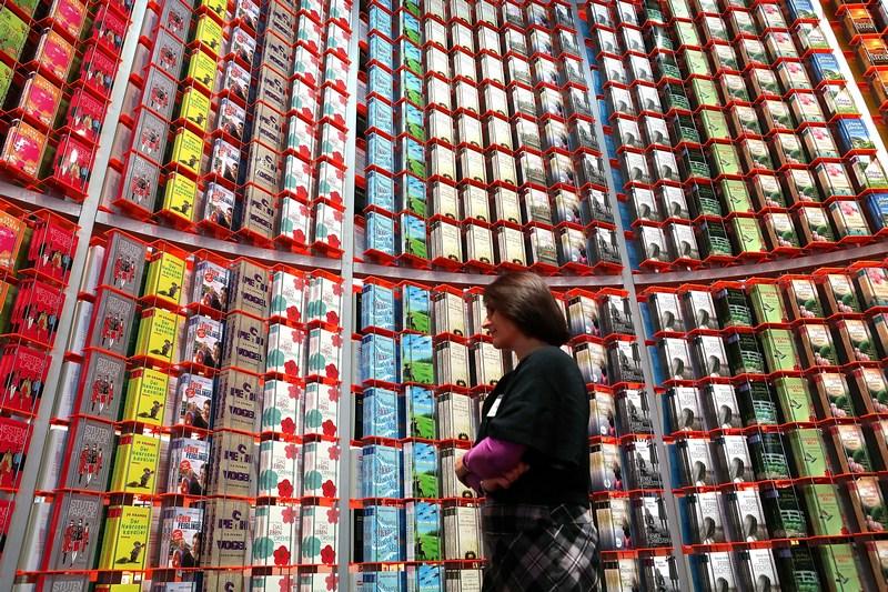 Франкфурт-на-Майне, Германия, 10 октября. В городе открылась крупнейшая в мире книжная выставка. Фото: Hannelore Foerster/Getty Images