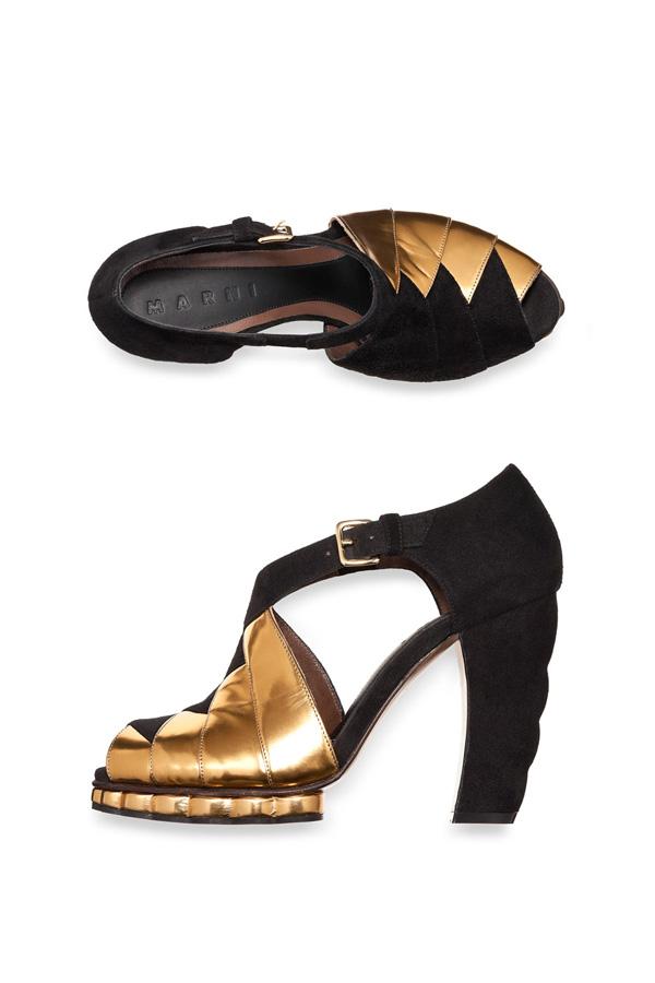 Осінньо-зимова колекція ретро-взуття Marni. Фото: neeu.com