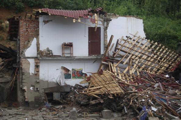 Зруйнований стихією будинок. Провінція Хунань, Китай. Фото: STR/AFP/Getty Images