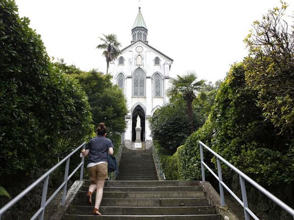 Церковь Oura, найстарейшая церковь в Японии, также известная как церковь 26 японских мучеников. Фото: Kiyoshi Ota / Getty Images)