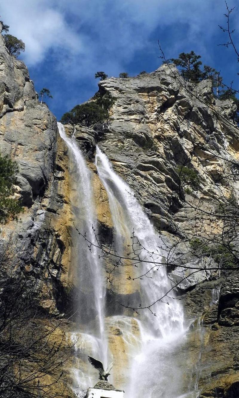 Верхній каскад водоспаду Учан-Су. Фото: Алла Лавриненко/EpochTimes.com.ua