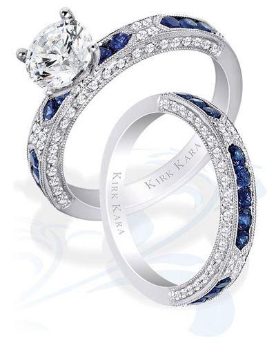 Роскошные свадебные кольца Kirk Kara.Фото с efu.com.cn