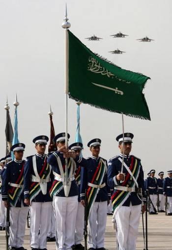 В Саудовской Аравии прошёл парад. Фото: HASSAN AMMAR/AFP/Getty Images