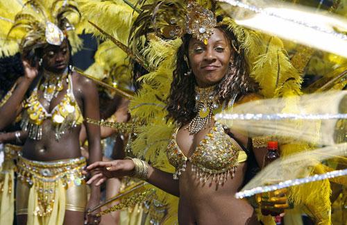 Лондон празднует Карнавал Notting Hill. Фото: Leon Neal/AFP/Getty Images