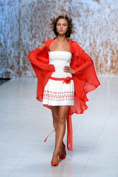 Показ коллекции Елены Даць в рамках XXV Ukrainian Fashion Week. Фото: Владимир Бородин/The Epoch Times