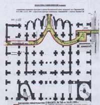 План-схема Софії Київський в розрізі