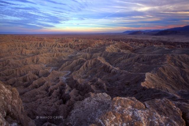 Пустыня Анза-Боррего на закате. Юг штата Калифорния. Фото: Marco Crupi/outdoorphotographer.com