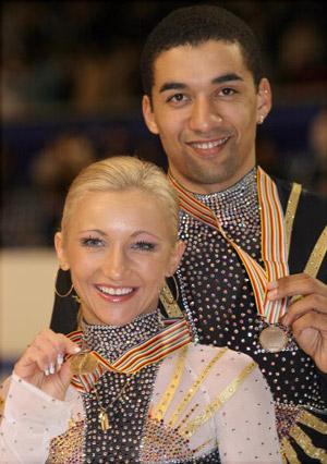 Німецька пара Aliona Savchenko і Robin Szolkowy на чемпіонаті світу з фігурного катання. Фото: Koichi Kamoshida/Getty Images