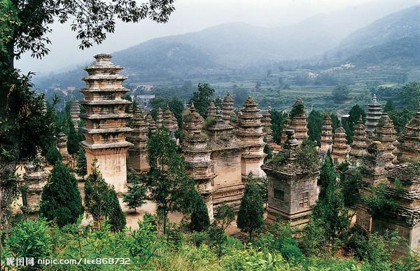 Лес пагод монастыря Шаолинь (Талинь). Фото с nipic.com