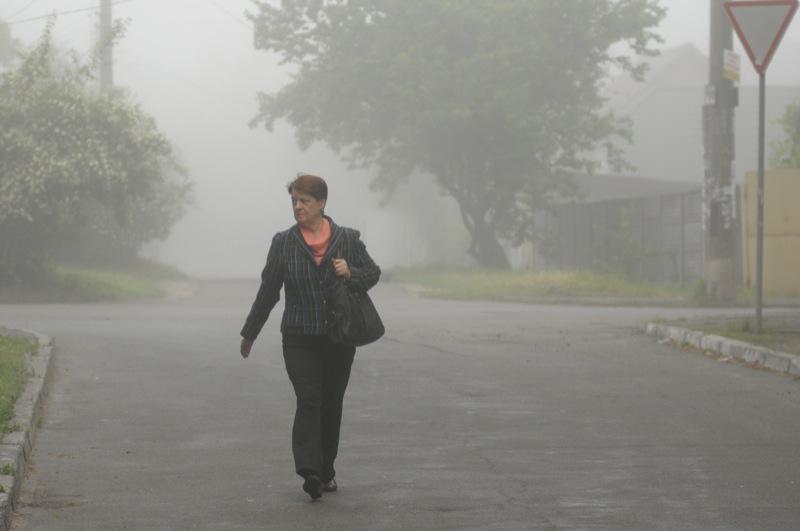 Київ огорнув густий туман. Фото: Володимир Бородін/EpochTimes.com.ua