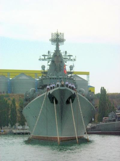 Боевой корабль черноморской эскадры. Фото: Алла Лавриненко/The Epoch Times Украина