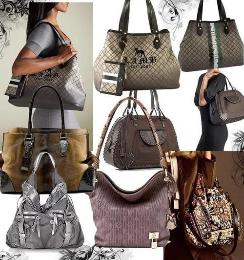 Модные сумки осень-зима 2008-2009- тканевая