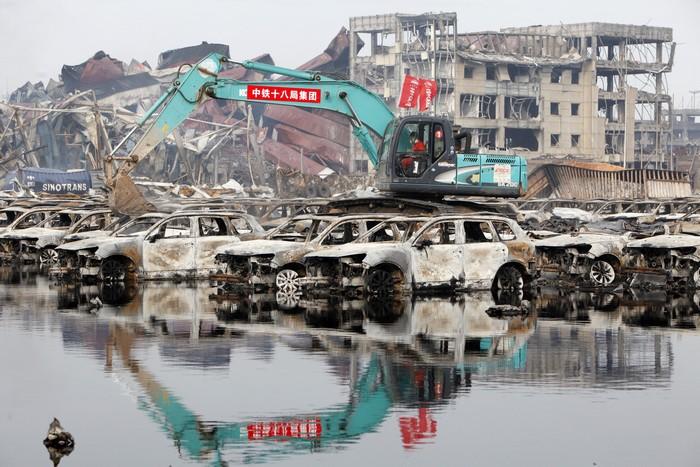 Кадры из «китайского ЧернобыляКадри з «китайського Чорнобиля», м Тяньцзінь, серпень 2015 року. Фото: ChinaFotoPress/ChinaFotoPress via Getty Images