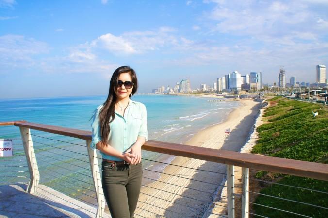 Анастасія Лінь у Тель-Авіві, Ізраїль. Фото: Courtesy of Anastasiya Lin